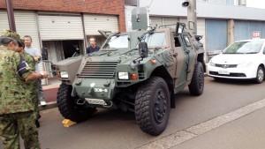 自衛隊の装甲車