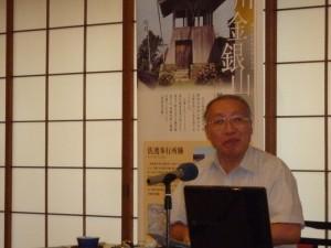 勉強会で講演の県文化行政課吉田参与
