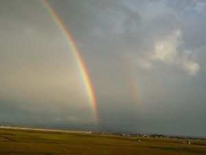 珍しい2重の虹