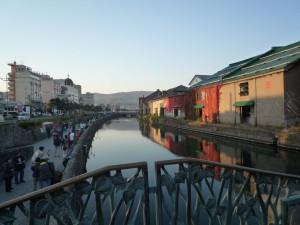 近代土木遺産の小樽運河