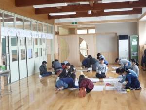 広い廊下での授業